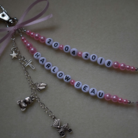 Personalised Baby Changing Bag Charm Name & DOB