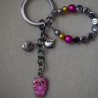 Teacher Thank You Keyring Personalised Owl