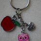 Thank You Keyring Teacher Owl Apple