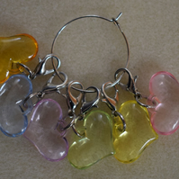 Crochet Stitch Markers Love Hearts Set of 6