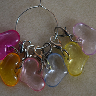 Stitch Markers Crochet Love Hearts Set of 6