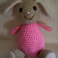 Bessie Bunny Crocheted Rabbit