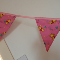 Bunting Baby Pooh Bear Pink 10 Flags