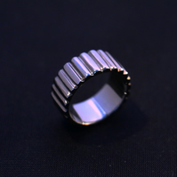 Sterling Silver 925 Black Rhodium Plated Handmade Ring