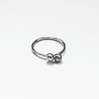Sterling Silver 925 Kiss Ring