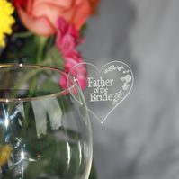 Personalised wedding table name places for wine, champagne glass in acrylic.