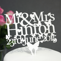 Personalised Wedding Cake topper - add ANY NAME and DATE