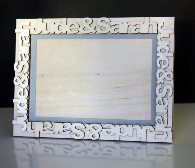 Personalised Name Wooden Frame