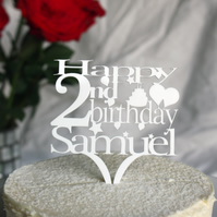 Personalised Birthday Cake Topper add ANY age and NAME