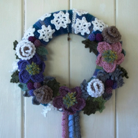 Crochet Frosty Winter wreath