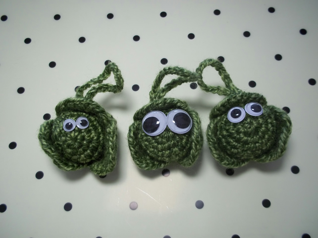 Trio of Crochet Sprouts.