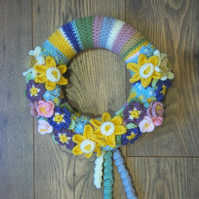 Blossoming Spring Crochet Wreath