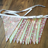 Vintage floral mixed pinks bunting
