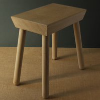Oak stool limewaxed