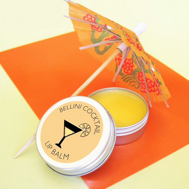Peach Bellini Cocktail Lip Balm