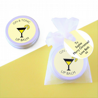 Gin & Tonic Lip Balm with Gift Tag
