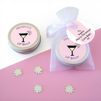 Prosecco Lip Balm with Gift Tag