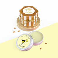 Gin & Tonic Lip Balm with Gold Gift Box