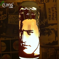 Elvis Presley Beer Can Lantern: Pop Art Candle Lamp - Unique Gift!