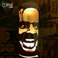 Jack Nicholson 'The Shining' Beer Can Lantern: Pop Art Portrait Candle Lamp