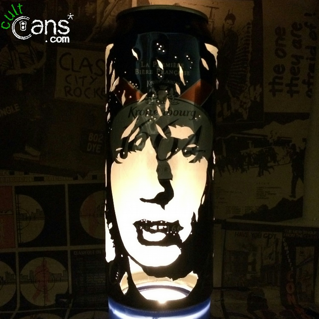 Mick Jagger Beer Can Lantern! Rolling Stones Pop Art Portrait Lamp - Unique Gift