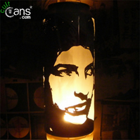 Bob Dylan Beer Can Lantern: Pop Art Portrait Candle Lamp - Unique Gift!