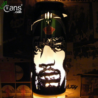 Jimi Hendrix Beer Can Lantern: Pop Art Portrait Candle Lamp - Unique Gift!