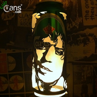 Marc Bolan Beer Can Lantern! T-Rex Glam Rock Pop Art Portrait Candle Lamp