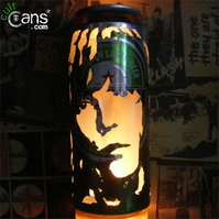 Ian Brown Beer Can Lantern! The Stone Roses Pop Art Portrait Lamp - Unique Gift!