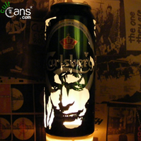 David Bowie 'Labyrinth' Beer Can Lantern! Jareth Portrait Lamp - Unique Gift!