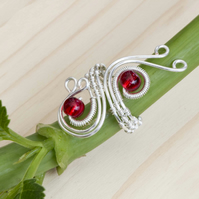 Silver wire ring jewellery,silver ring-adjustable, wire wrapped silver ring .