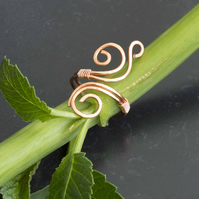 Copper ring jewellery,copper ring-adjustable, wire wrapped copper ring