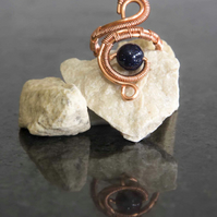 Copper ring ,copper ring-adjustable, wire wrapped copper ring .