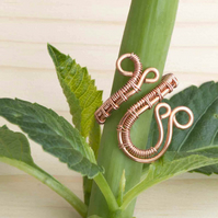 Wire wrapped Copper ring jewellery,copper ring-adjustable, copper ring