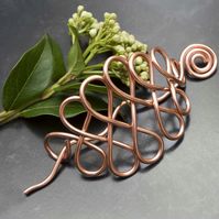 Celtic Copper wire Hair brooch,Hair Barrette,Hair Accessories,