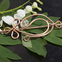 Copper wire hair slide,hair brooch
