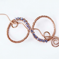 Copper wire hair slide,hair brooch, hair slide, hair accessories,