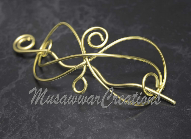 Brass Hair bun maker and holder ,Hair Stick, Hair bun slide for long hair.