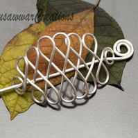 Silver wire Hair brooch-Lloops Hair Barrette,Hair Accessories,