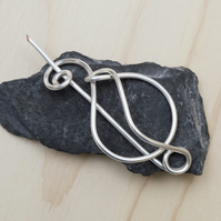 Silver shawl pin,silver wire scarf pin,silver wire sweater pin, scarf pin,shawl