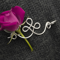 Silver hair pin, shawl pin, scarf pin , silver Shawl and Sweater pin silver pin
