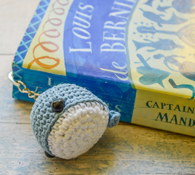 Willy the Whale Hook Bookmark.Crochet Amigurumi.Aquatic Decor.37 Colours.