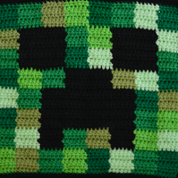 Minecraft Inspired Double Sided Cushion.Crochet.Choose from 12 Designs.