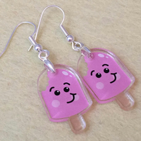 Ice Lolly Earrings - Pink - Acrylic Earrings - Kawaii Earrings - Cute Earrings