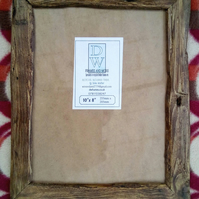 "Rustic,driftwood style picture frame to fit 10""x8"""