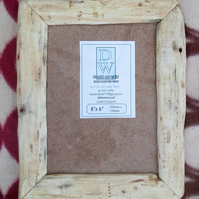 "Rustic,driftwood style, recycled hardwood picture frame to fit 8""x6"""