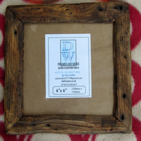 "Rustic,driftwood style picture frame to fit 6""x6"""