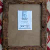 "Rustic,driftwood style picture frame to fit 7""x9"""