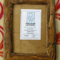 "Rustic,driftwood style picture frame to fit 7""x5"""