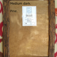 Rustic,driftwood style picture frame to fit A4. Recycled pine